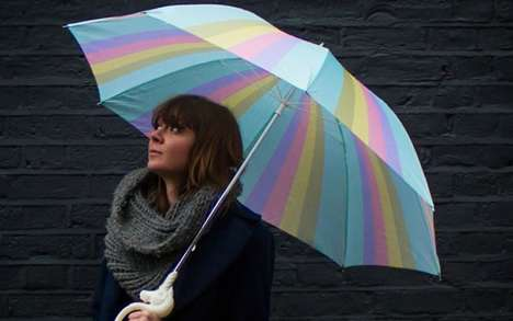 Rainbow Unicorn Umbrellas - The Magical Unicorn Umbrella Adds an Air of Whimsy to a Rainy Day