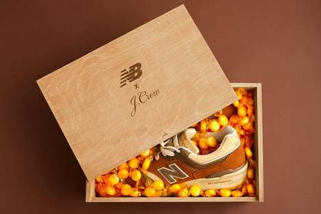 Co-Branded Candy Sneakers - The J.Crew x New Balance 997 Kicks are inspired by a Classic Candy