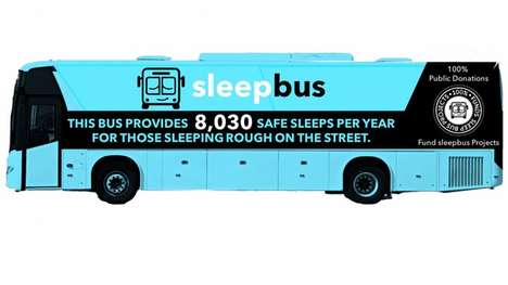 Homeless Shelter Buses - The Sleepbus Houses Sleeping Pods That Can Shelter the Homeless At Night