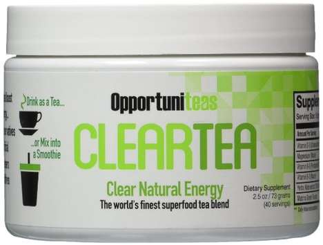 Natural Tea Energy Drinks - The Opportuniteas 'ClearTea' Natural Drink Powder is Vitamin-Enriched