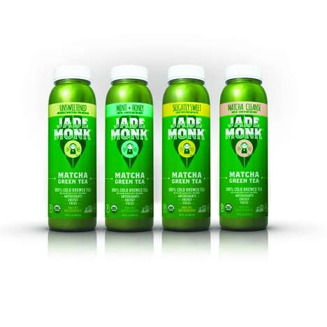 Antioxidant Energy Beverages - The Jade Monk Matcha Tea Drinks are Packed with Natural Energy