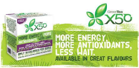 Metabolism-Boosting Teas - GreenTea X50 Instant Energy Green Tea Detoxifies and Energizes