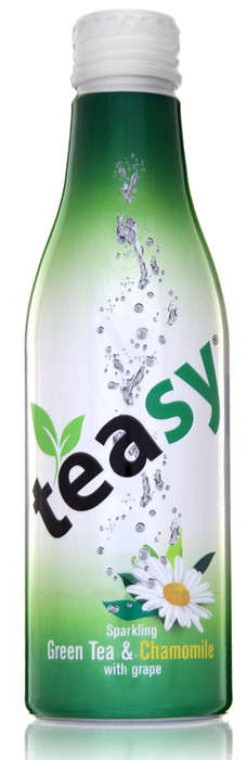 Carbonated Tea Energy Beverages - 'Teasy' Tea is a Natural Energy Booster Thanks to Green Tea