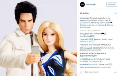 Modeling Doll Campaigns - This Campaign Features a Doll of Derek Zoolander and Barbie on Instagram