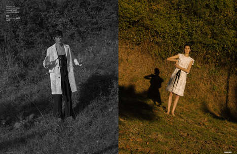 Gender-Fluid Spring Fashion - 'The Spring Running' Editorial Highlights Androgynous Clothes
