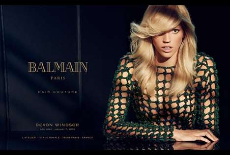 Fashionable Hair Care Campaigns - The Latest Balmain Hair Couture Ad Highlights Chic Tresses