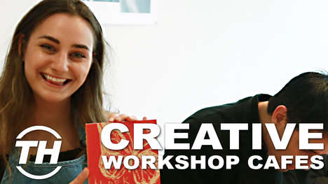 Creative Workshops Cafes - Paint Cabin is a Coffee Shop by Day, Creative Makerspace by Night