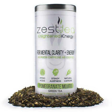 Energizing Detox Teas - Zest Tea's Pomegranate Mojito Green Tea is a Caffeinated Antioxidant