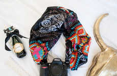Fashionable Camera Attachments - These Camera Scarf Straps Keep Gear Fashionably Within Reach