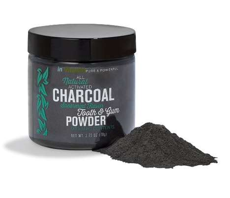 Natural Dry Toothpastes - This Activated Charcoal Gum and Tooth Powder Naturally Whitens Teeth