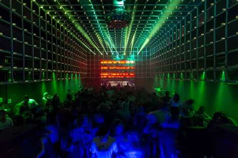 Interactive Nightclub Interiors - The Year in Sao Paulo Boasts a Reactive LED Cage