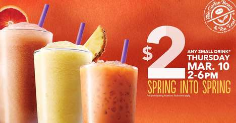 Tropical Tea-Based Beverages - The New Sweet Tea Ice Blended Drinks Come in Tasty Tropical Flavors