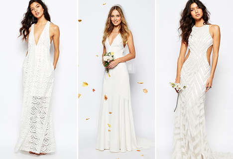 Affordable Bridal Collections - ASOS Offers Cost-Effective Wedding Fashions for Millennial Consumers