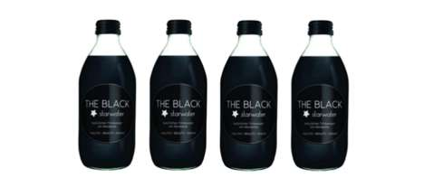 Detoxing Charcoal Tonics - The Black Starwater Beverages Contain Active Charcoal to Purify the Body