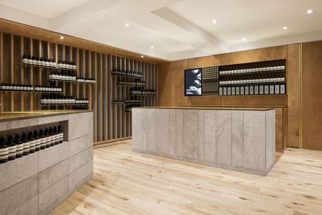 Movement-Inspired Spa Boutiques - The Aesop Mile-End Store Was Designed by Montreal's Naturehumaine