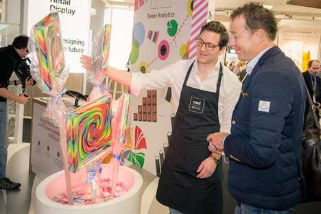 Candy-Themed Trade Show Kiosks - TRO Hosted an Interactive Sweets Shop at the Retail Design Expo