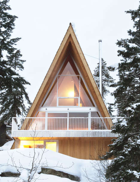 70s-Inspired Ski Chalets - This A-Frame Chalet is Resigned to Resemble Neighboring 1970s Cabins