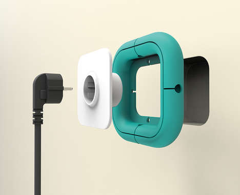 Cord-Organizing Outlet Covers