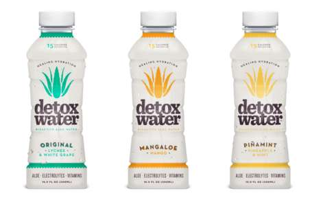 Detoxifying Aloe Water - This Bioactive Aloe Water Comes in Enticing Fruit Flavors