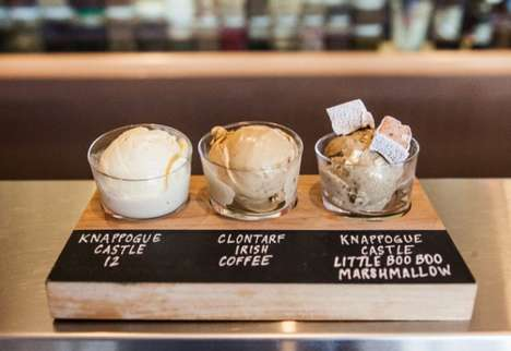 Boozy Ice Cream Flights - This Ice Cream Dish Celebrates St. Patrick's Day with Whiskey Flavors