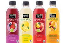 Sparkling Fruit Juices - The New Minute Maid Sparkling Range Features Carbonates Juices