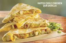Hatch Chile Quesadilla Menus - Taco Bueno Has Added Two Hatch Chile Dishes to Their Menu