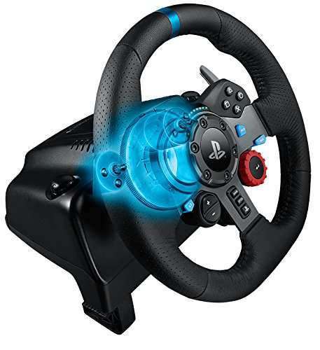 Realistic Feedback Game Controllers - The Logitech G29 Driving Force Race Wheel Replicates Driving