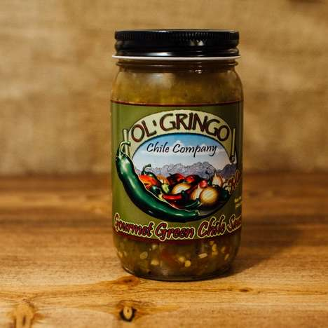 Gourmet Green Salsas - Ol' Gringo's Green Sauce is Made with Hatch Chile Ingredients
