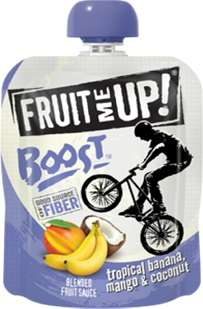 Fortified Fruit Purees - Fruit Me Up! BOOST is a Fruit Snack for Kids Enriched with Benefits