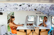Mobile Caravan Offices - The Studio1-6 Puts Together an Office on Wheels for Remote Working