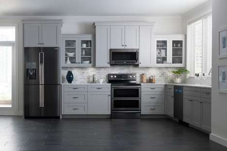 Chic Family-Friendly Appliances - The Samsung Black Stainless Steel Appliances are Ready for Use