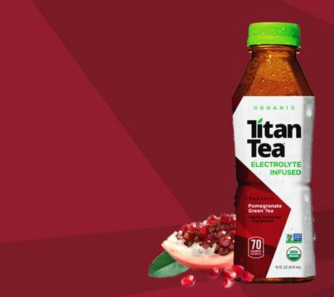 Electrolyte-Enriched Teas - Titan Tea's Beverage Range Rejuvenates and Detoxifies