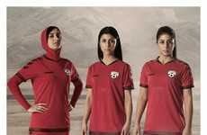 Hijab-Integrated Soccer Jerseys - These Women's Soccer Jerseys Feature Built-In Hijabs