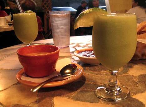 Healthy Avocado Margaritas - This Blended Fruit Drink Contains Avocado for Added Creaminess