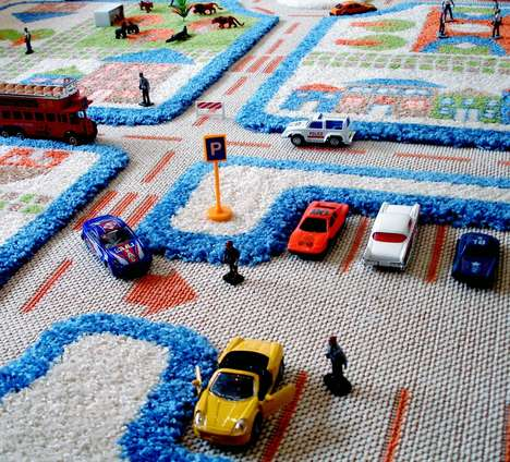 3D Play Carpets - This Children's Rug Features Texturized Features for Experiential Leisure