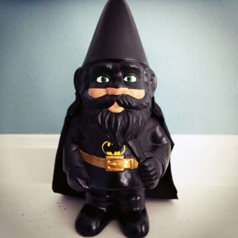 Caped Crusader Gnomes - The Bat Gnome is a Garden Decor Piece Inspired by the Dark Knight