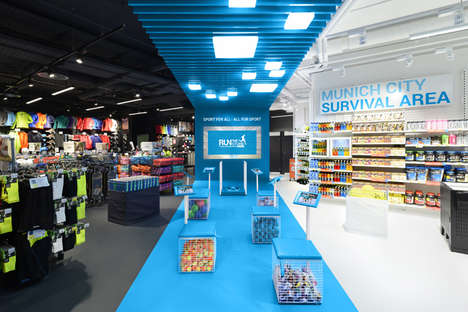 Gamified Athletic Retailers - This Decathlon Connect in Munich Features Digital Amenities