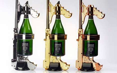 Champagne-Shooting Guns - The Champagne Gun Can Blast Bubbly Up to 23-Feet for 45-Seconds