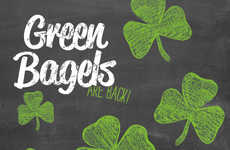 Shamrock-Colored Bagels - These Green Bagels Celebrate St. Patrick's Day