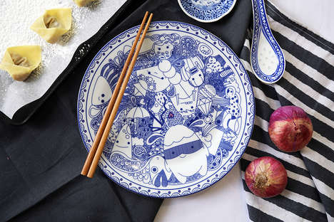 Monstrously Cheeky Dinnerware - 'Karin: Monster Platter Dinnerware' is Artful and Affordable