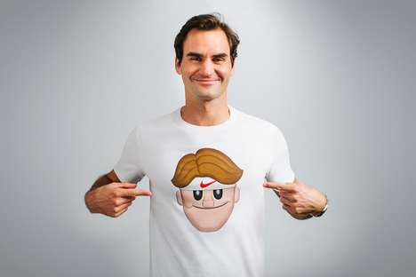 Athletic Emoji Apparel - NikeCourt's Latest Range Honors Roger Federer's Love for Emojis