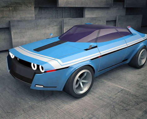 Modernized Retro Sports Cars