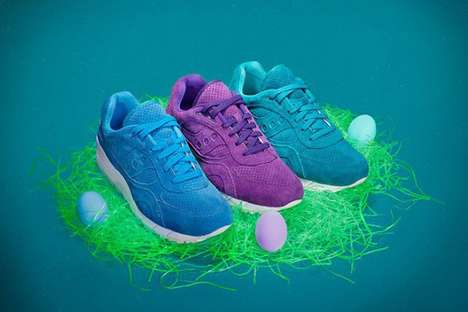 Monochromatic Easter Sneakers - The Saucony Shadow 600 'Easter Egg Hunt' Range Celebrates Spring