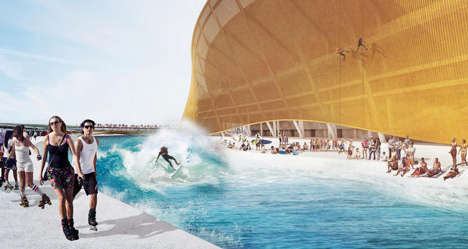 Interactive Moat Stadiums - The Washington Redskins Arena Will Offer Kayaking and Surfing for Fans