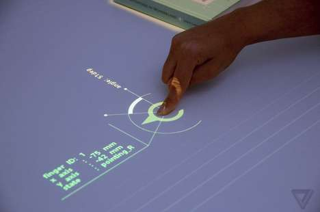 Luminous Interactive Tabletops - The 'Interactive Tabletop' by Sony Made Its Debut at SXSW