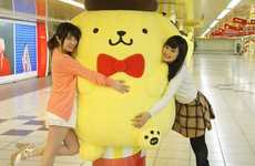 Huggable Subway Ads - This Underground Advertising Stunt Promotes the Anniversary of Pompompurin