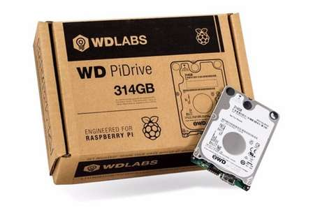 Mini PC Hard Drives - The Western Digital 'PiDrive' 314GB Hard Drive Device is for Small Systems