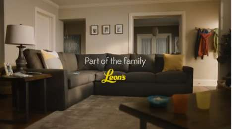 Family-Focused Furniture Ads - The New Leon's Ads Emphasize the Role of Furniture in People's Lives