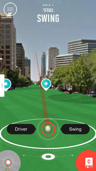 Virtual Golf Apps - The 'Dell Play Through' App Lets Users Play a Course Through the City of Austin