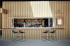Pop-Up Paper Eateries - This Pop Up Food and Drink Venue in Sydney Uses Cardboard Tubes for Design